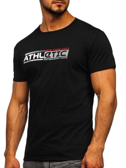 Černé pánské tričko s potiskem Bolf SS10951