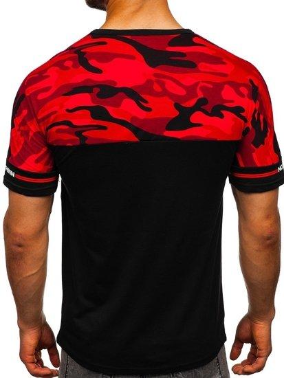Černé pánské tričko s potiskem Bolf SS10977