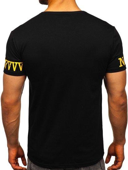 Černé pánské tričko s potiskem Bolf SS11095