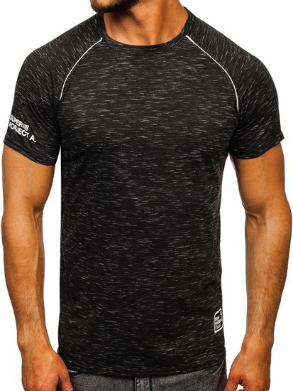 Černé pánské tričko s potiskem Bolf SS11125