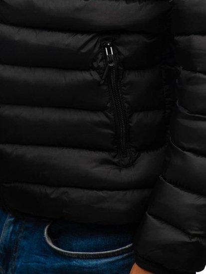 Černo-červená pánská sportovní zimní bunda Bolf SM17