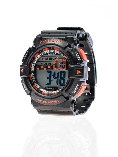 Černo-oranžové pánské hodinky Bolf 9003
