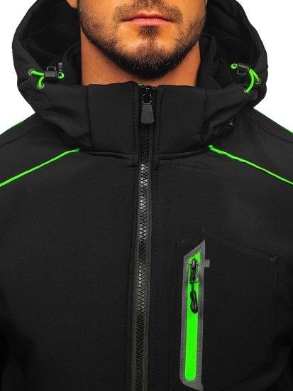 Černo-zelená pánská softshellová bunda Bolf 12259