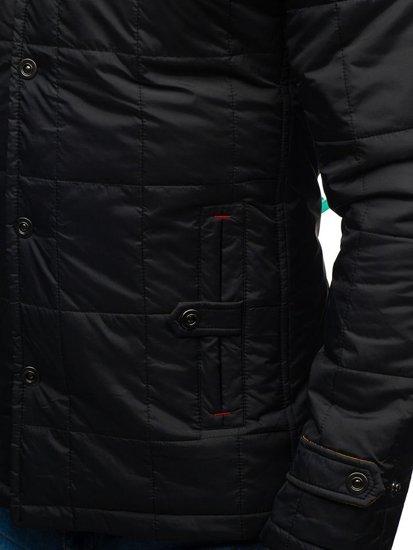 Černo-žlutá pánská přechodová bunda Bolf 50004