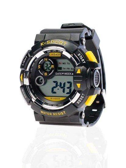 Černo-žluté pánské hodinky Bolf 9006