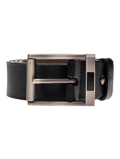 Černý pánský kožený pásek Bolf P008-A