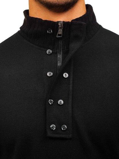 Černý pánský svetr se stojáčkem Bolf 1132