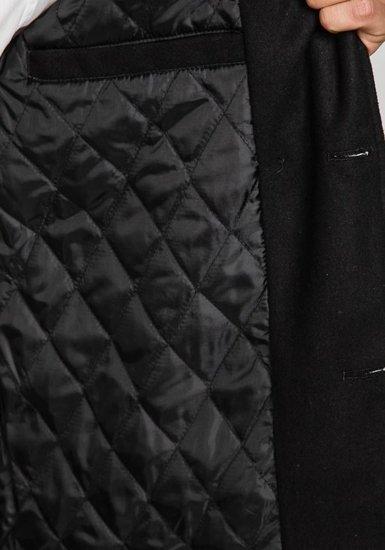 Černý pánský zimní kabát Bolf EX903