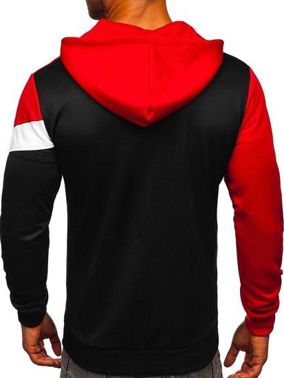 Červená pánská mikina na zip s kapucí Bolf HY753