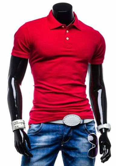 Červená pánská polokošile Bolf 5408