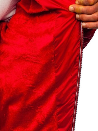 Červená pánská přechodová sportovní prošívaná bunda Bolf 50A160