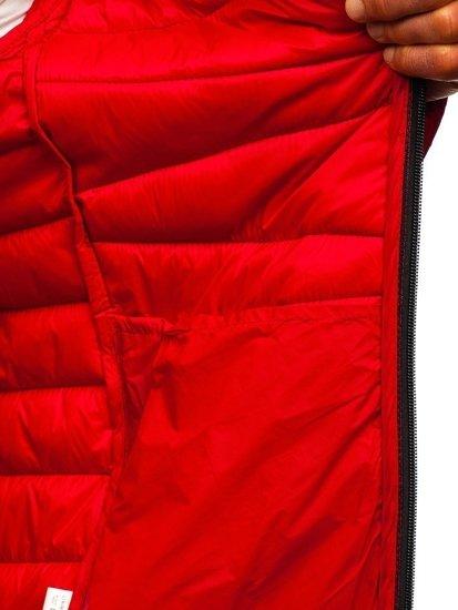 Červená pánská prošívaná přechodová bunda Bolf 1139