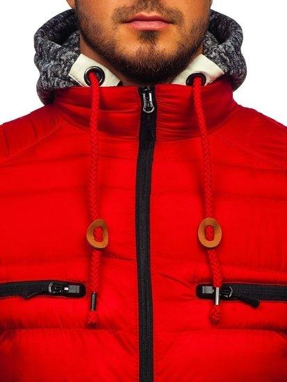 Červená pánská sportovní zimní bunda Bolf 50A93