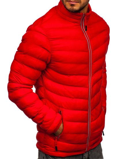 Červená pánská sportovní zimní bunda Bolf SM71