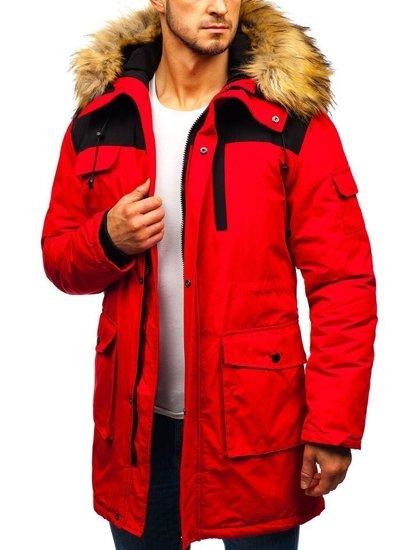 Červená pánská zimní bunda Bolf 201816