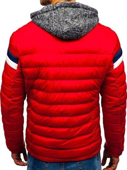 Červená pánská zimní bunda Bolf A181