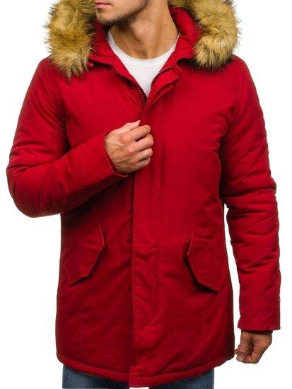 Červená pánská zimní parka Bolf YT303