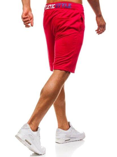 Červené pánské teplákové kraťasy Bolf EX05-1