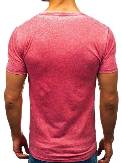 Červené pánské tričko Bolf 7645