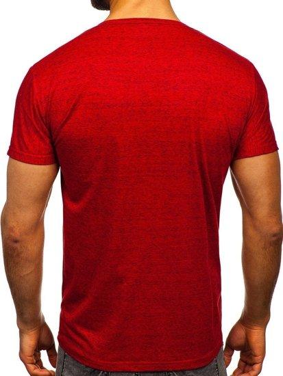 Červené pánské tričko s potiskem Bolf KS2054