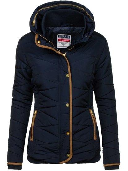 Dámská tmavě modrá zimní bunda Bolf 22