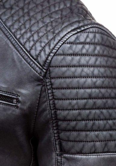 Grafitová pánská kožená bunda z ekokůže Bolf 1773C
