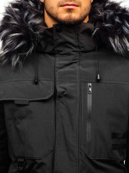 Grafitová pánská zimní bunda Bolf 201809