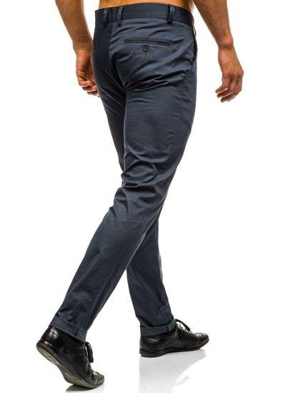 Grafitové pánské chino kalhoty Bolf 0204