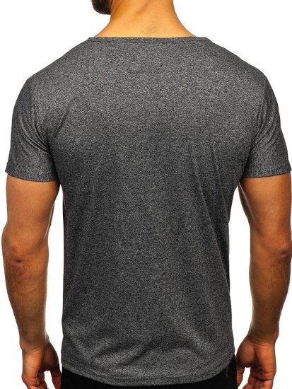 Grafitové pánské tričko s potiskem Bolf KS2054