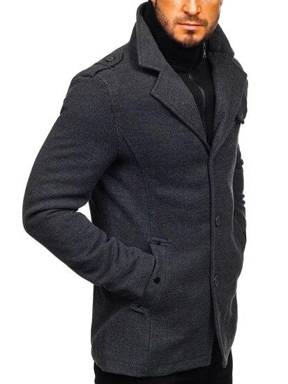 Grafitový pánský zimní kabát Bolf 832