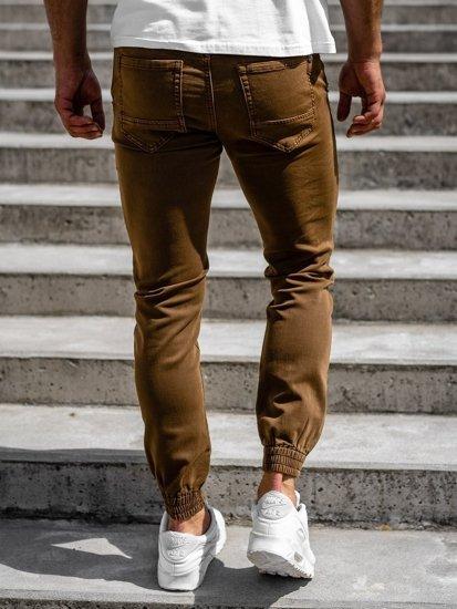 Hnědé pánské jogger kalhoty Bolf CT8808