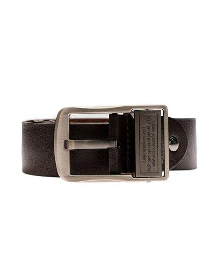 Hnědý pánský kožený pásek Bolf P007