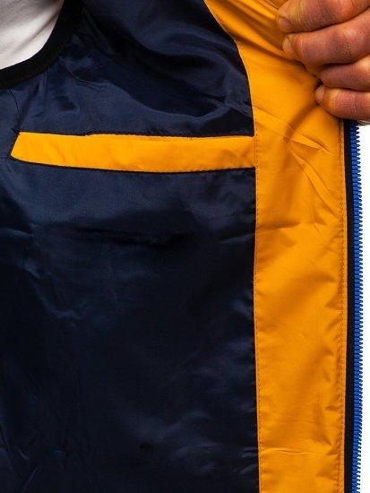 Kamelová pánská vesta s kapucí Bolf 6102