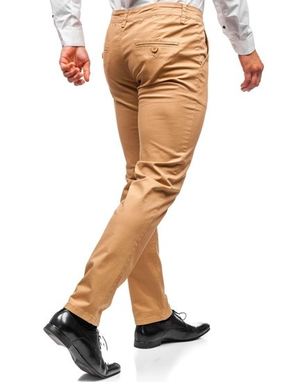 Kamelové pánské chino kalhoty Bolf 2901