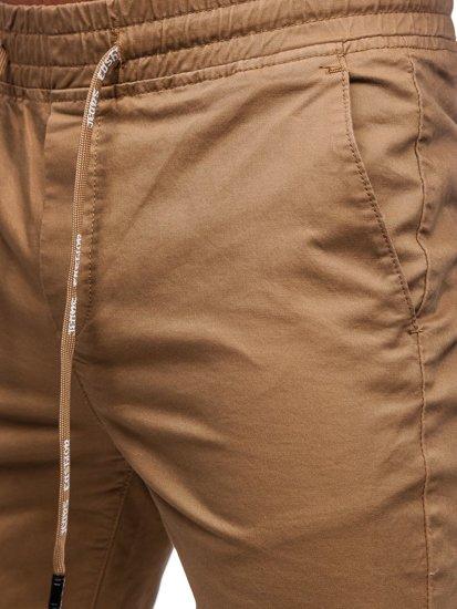 Kamelové pánské jogger kalhoty Bolf KA951