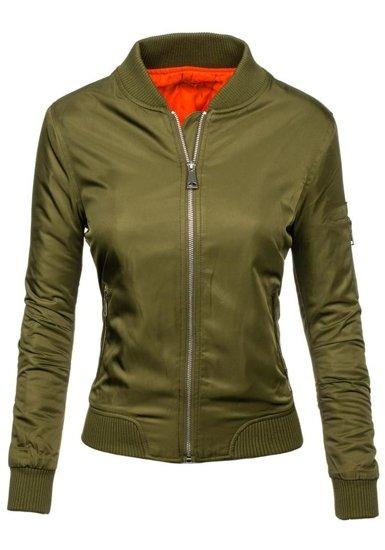 Khaki dámská přechodná bunda Bolf 5612