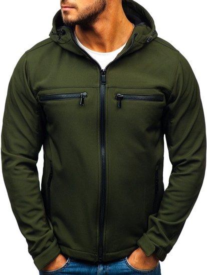 Khaki pánská softshellová bunda Bolf 56003