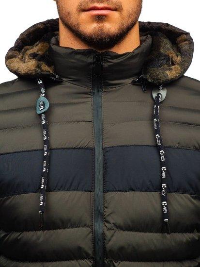 Khaki pánská zimní bunda Bolf A410