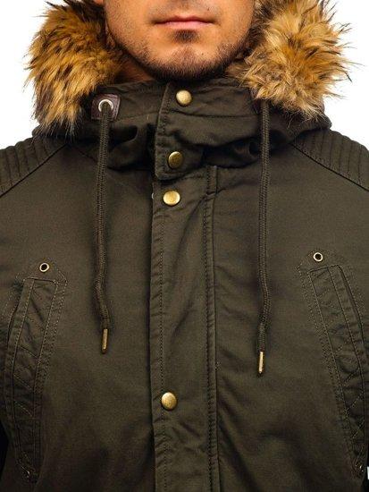 Khaki pánská zimní parka Bolf 5810