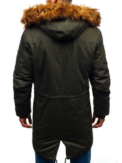 Khaki pánská zimní parka Bolf R107