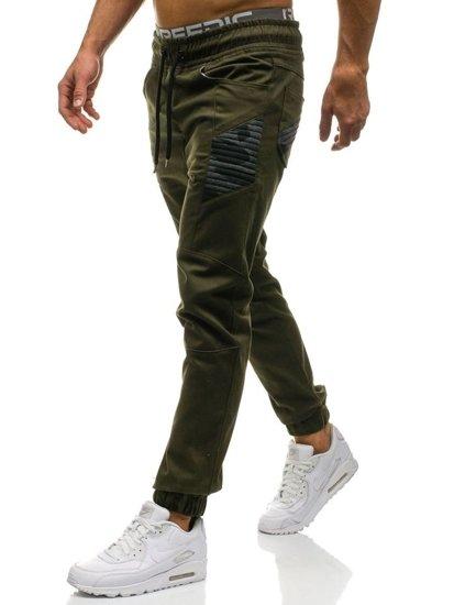 Khaki pánské jogger kalhoty Bolf 0706