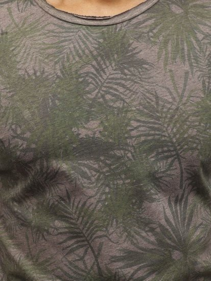 Khaki pánské tričko s potiskem Bolf 181048