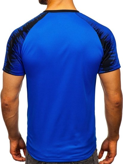Kobaltové pánské tričko s potiskem Bolf KS2065
