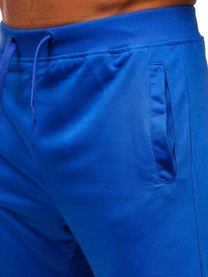Královský modré pánské teplákové kraťasy Bolf  AA10-A