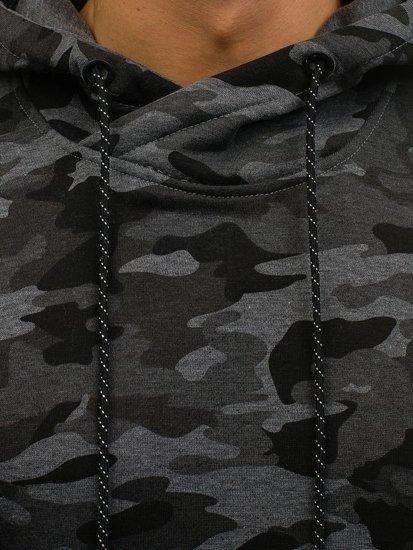 Maskáčovo-grafitová pánská mikina s kapucí Bolf DD129-1