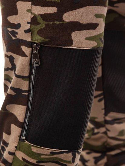 Maskáčovo-hnědé pánské tepláky Bolf 170