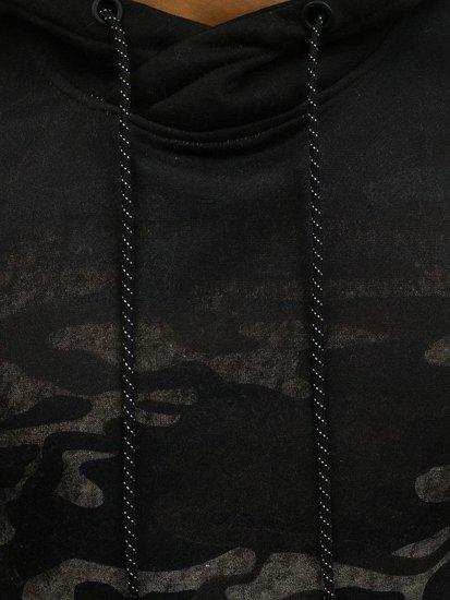 Maskáčovo-šedá pánská propínací mikina s kapucí Bolf DD134-1