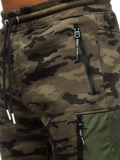 Maskáčovo-vícebarevné pánské baggy tepláky Bolf 3769E
