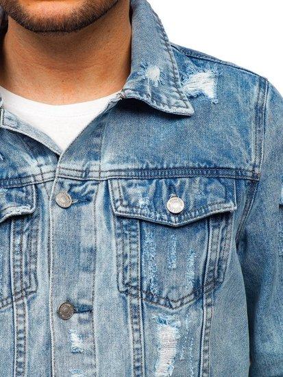 Modrá pánská džínová bunda Bolf AK580