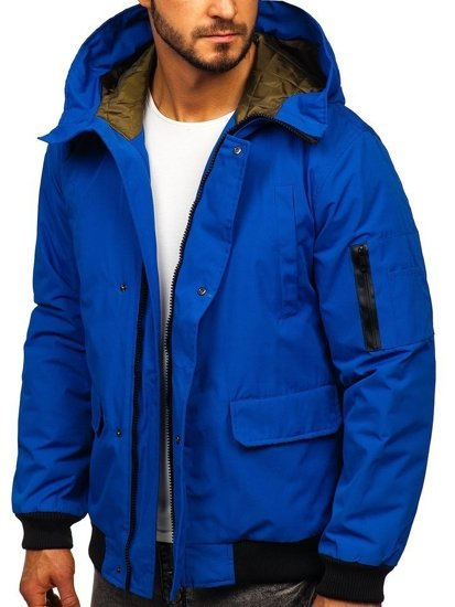 Modrá pánská přechodová bunda Bolf 2019005